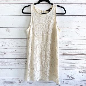 Forever 21 Embroidered Lace Sleeveless Mini Dress